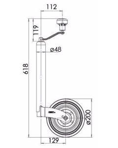 KJW4803 Steel Rim Low Handle
