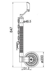 KJW4804 48mm heavy duty Ribbed  jockey wheel