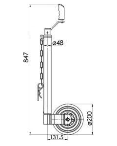 KJW4805 48mm Smooth  jockey wheel