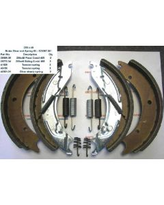 Knott-Avonride Brake Shoe & Spring Kit 520067.004