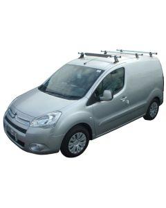 Rhino Delta 3 Bar Roof System - GA3D-B33K Peugeot Partner 2008-2018