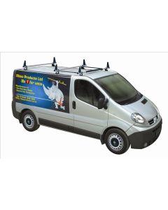 Rhino Delta 3 Bar Roof System - MB3D-B63M Vauxhall Vivaro 2002-2014