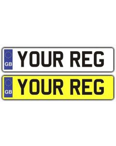 Oblong Number Plate (GB Euro) for Vehicle and Trailers