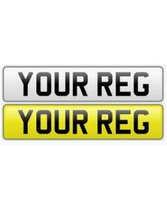 Oblong Number Plate (Standard) for Vehicles and Trailers