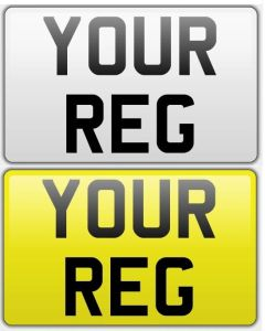Square Number Plate (Standard) for Vehicals and Trailers